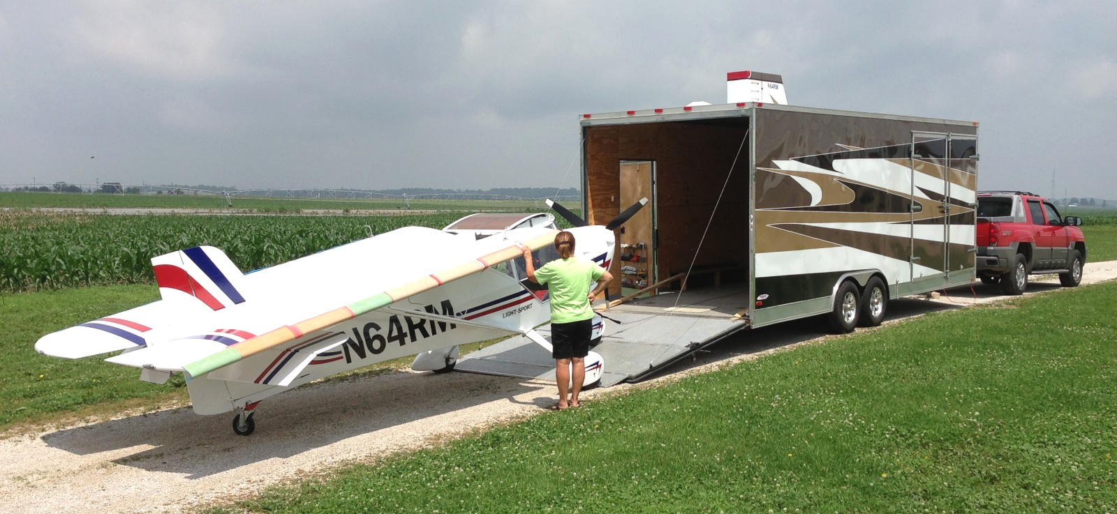 Car Trailer Winch >> Aerotrek aircraft trailers